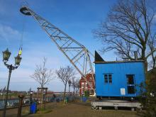 Alter Hafenkran in Duisburg-Ruhrort