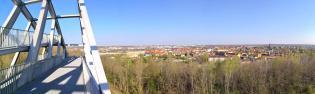 Panoramablck in Richtung Bitterfeld