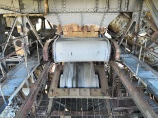 "Details vom Schaufelradbagger ""Big Wheel"""