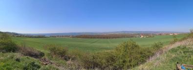 Panoramablick beim Aufstieg in den Wald in Richtung des Kelbra-Stausees