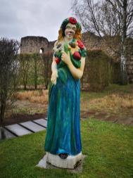 Skulptur auf dem Gelände der ehemaligen Landesgartenschau