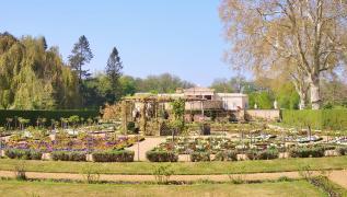 Gärten hinter dem Schloss Charlottenhof, Sommersitz des Kronprinzen Friedrich Wilhelm, der spätere König Friedrich Wilhelm IV.