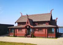 Ein Holzhaus im altnorwegischen Stil: Kongsnaes, die frühere Kaiserliche Matrosenstation Potsdam