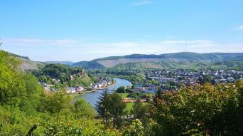 Blick zur Altstadt beim Aufstieg zum Keuterberg