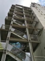 Angebautes Treppenhaus zum Aufstieg auf demTurm