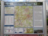 """Infotafel am Wanderweg """"Schaumberger Tafeltour"""""""