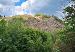 Blick in den Gabbro-Steinbruch