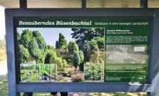 Infotafel am Eingang zum Büsenbachtal
