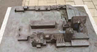 Bronzemodell der Anlage