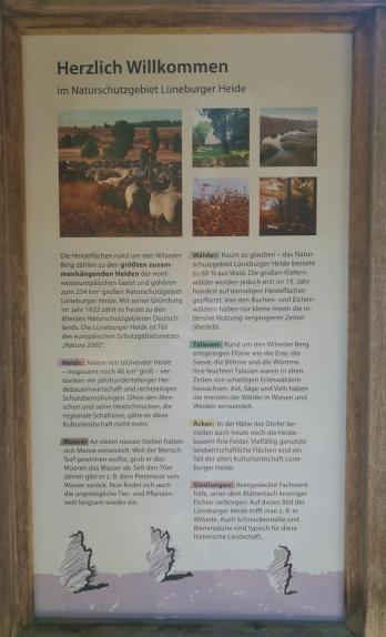 Infotafel am Heide-Informationszentrum