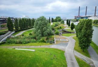 Auf der anderen Seite des Mittellandkanals. Ein Gelände-Übungsparcour.