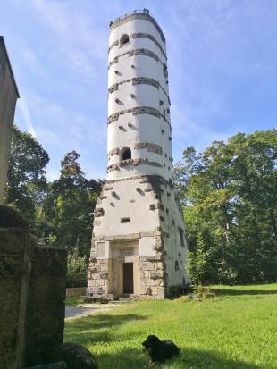Der 1922/1923 errichtete Aussichtsturm Hohe Warte