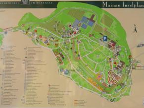 Infotafel am Zugang zur Insel Mainau