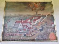 Historisches Bild des Klosters