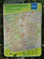 Wanderkarte des Ostallgäus rund um Kaufbeuren
