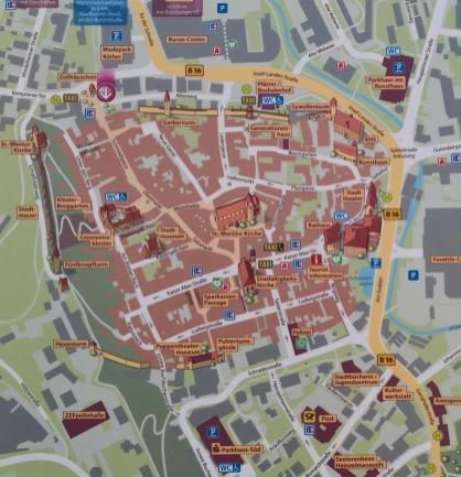 Stadplan mit dem historishen Zentrum