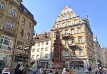Brunnen auf der Marktsätte, dem alten Marktplatz von Konstanz