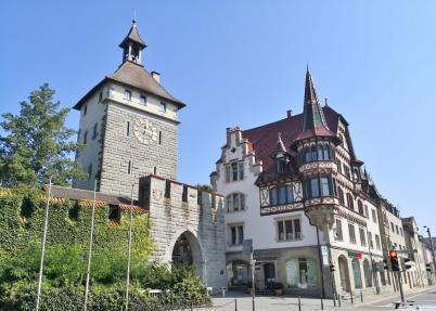 Das Schnetztor, der historische Zugang zur Altstadt, Seeseite