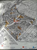 Historische Stadtansicht am Rathaus