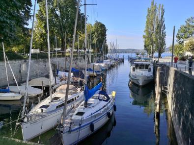 Der Mantelhafen an der Seepromenade