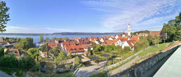 Panoramablick von der Johanniter-Kemenade hinunter auf die Altstadt