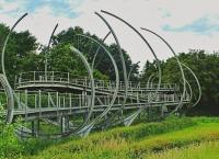 Die mittlerweile gesperrte Klangbrücke am Willy-Dohmen-Park