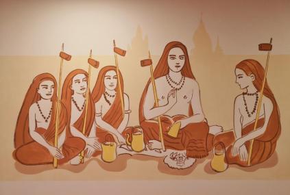 Shankarachaya und seine Follower