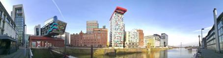 Panoramabild aus dem Medienhafen