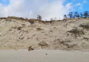 Das Hochwasser nagt regelmäßig an den Dünen