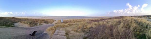 Panoramabild vom Strand bei Ouddorp