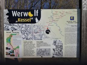 Infotafel am Werwolf-Wanderweg
