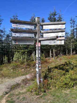 So viele Wanderwege treffen auf dem Gipfel zusammen