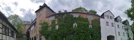 Panoramabild vom Innenhof