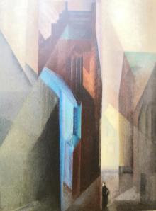 """Gemälde """"Torturm II"""" von Lionel Feininger, 1925"""