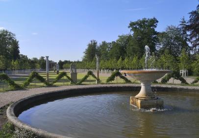 Sichtachse vom Schlossplateau durch den Park