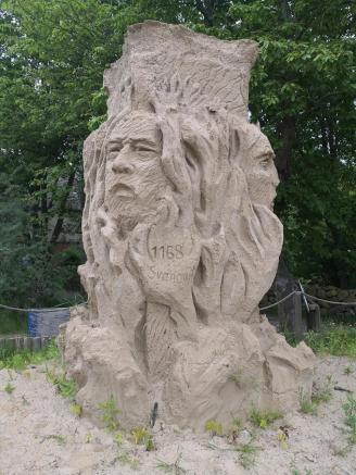 Sandfigur am Kap Arkona