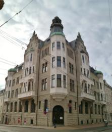 Prächtiges Haus an der Lübecker Straße gegenüber vom Innenministerium des Landes