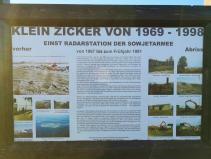 Infotafel an der ehemaligen Radar-Warnstation von Thiessow