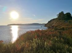 Sonnenuntergang über der Halbinsel von Klein-Zicker