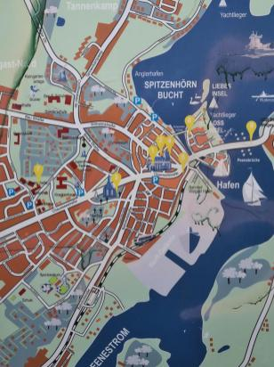 Lageplan der Innenstadt von Wolgast