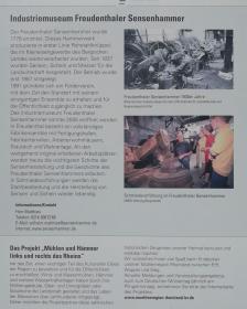 Infotafel am Industriemuseum Freudenthaler Sensenhammer