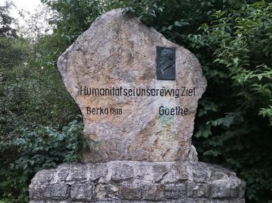 Gedenkstein im Goethepark