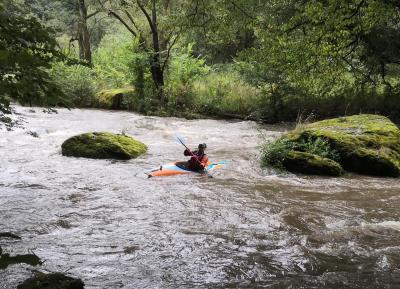 Heute sind ideale Bedingungen für Wildwasser-Kanuten
