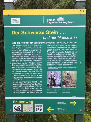 Infotafel am Schwarzen Stein