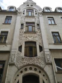 Wohnhaus in der Altstadt mit Jugenstilfassade von 1904