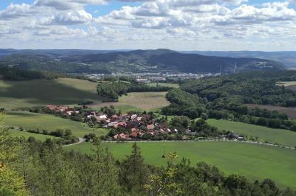 Blick vom Berg Liske nach Zeigerheim