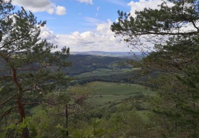 Blick vom Kesselberg in Richtung Westen