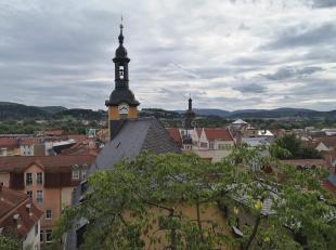 Blick vom Schloss über die Altstadt von Rudolstadt