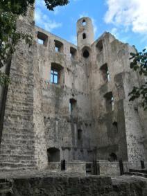Ruine der Burg Hoher Schwarm, Stadtseite