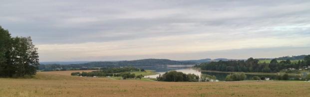Blick von Bosenhübel in Richtung Staumauer